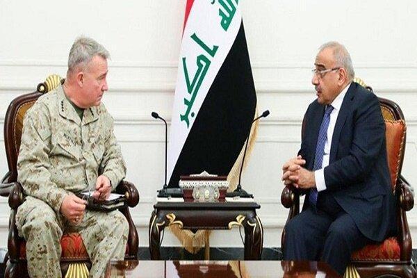 ملاقات عبدالمهدی با فرمانده تروریست های آمریکایی
